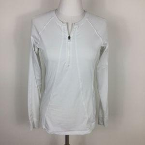 Athleta Long Sleeve White 1/4 Zip sz. XS